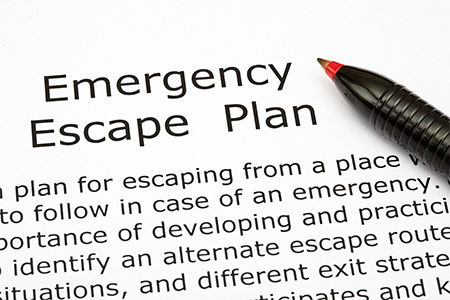 Fire emergency escape plan