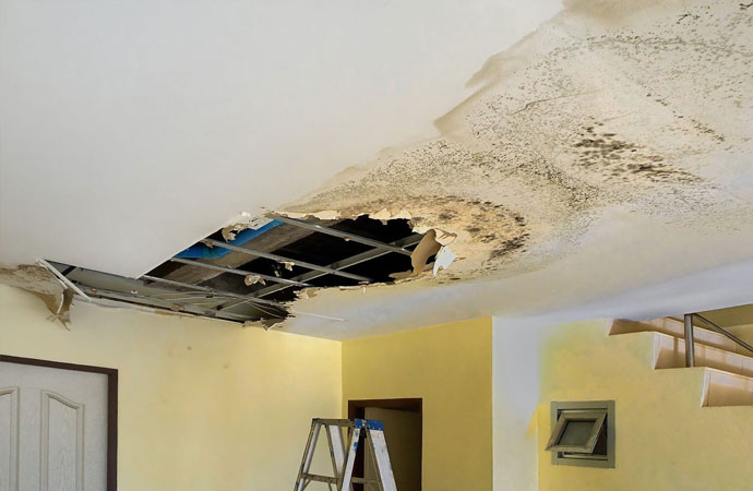 Ceiling Damage and Restoration